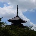 写真: 夏空の下の五重塔