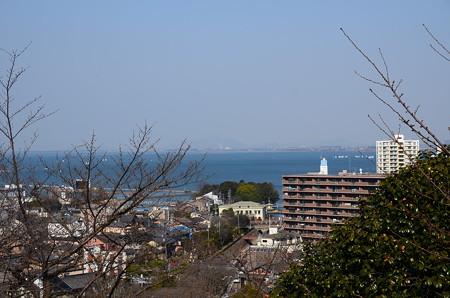 観月舞台脇から見る琵琶湖