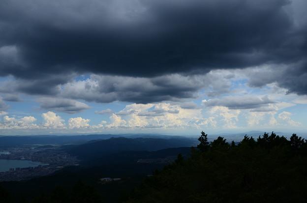 上空には黒い雲