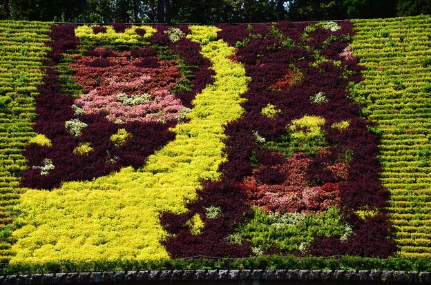 花と水のタペストリー 「七夕」