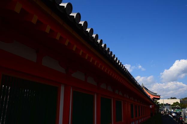 写真: 秋空の三十三間堂