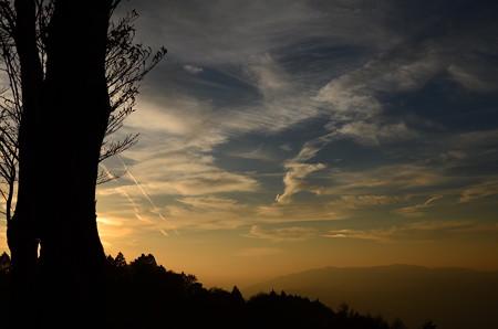 比叡山の夕空