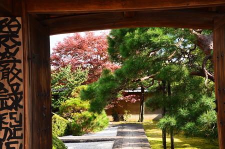 禅宗道場の秋景色