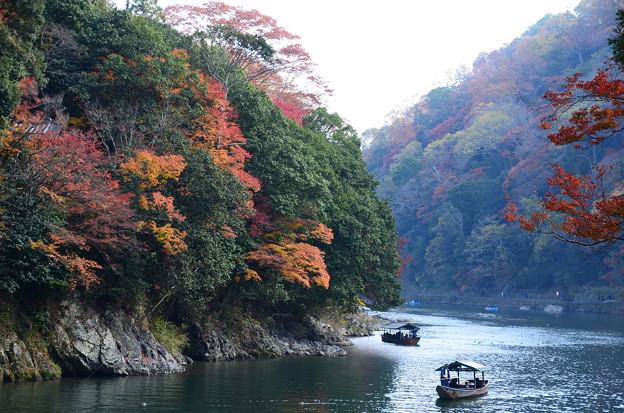 嵐山の秋景色