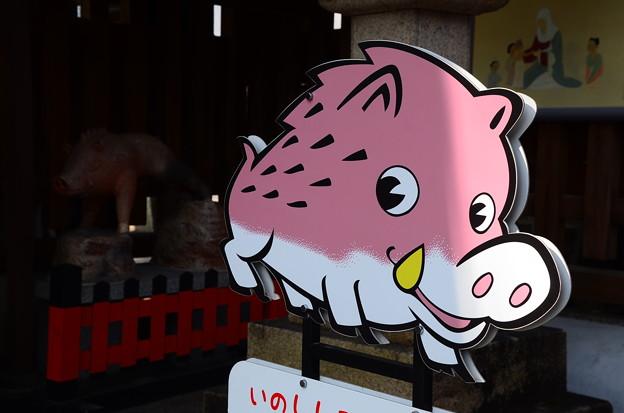 アニメ風?の猪