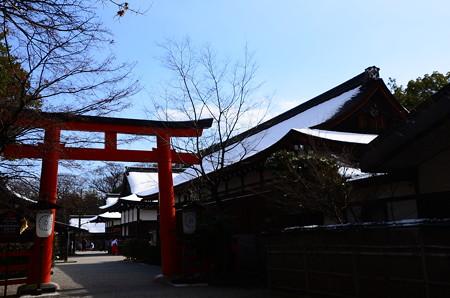 下鴨神社の雪景色