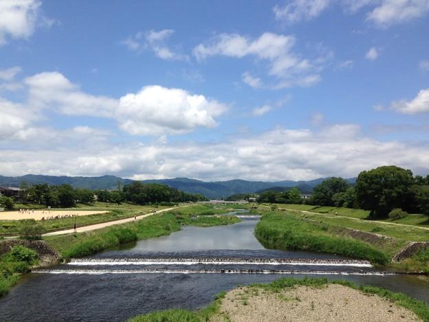 梅雨の晴れ間の賀茂川