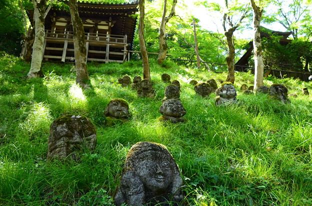 真夏の愛宕念仏寺