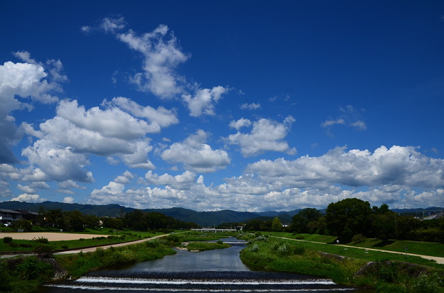 賀茂川の青空
