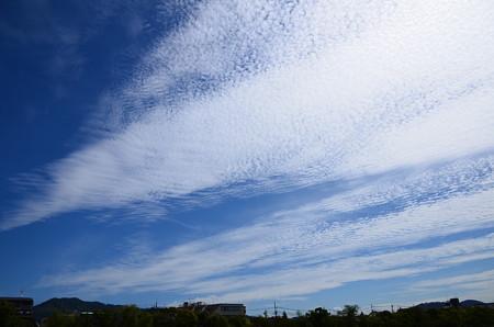 大文字と秋の雲
