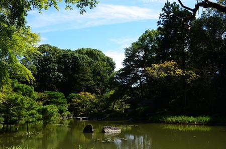 初秋の青龍池