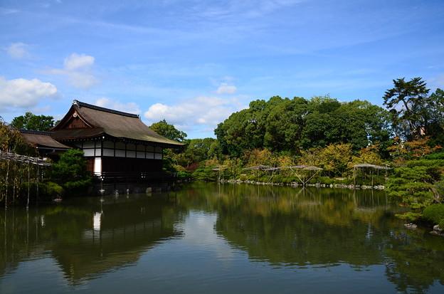秋空の栖凰池