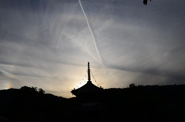 清涼寺の日暈