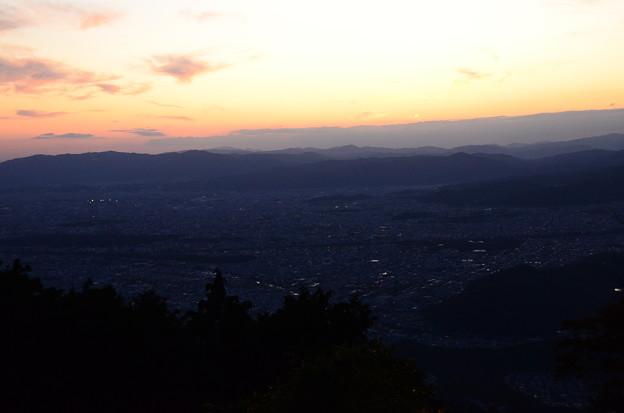 比叡山からの夕陽