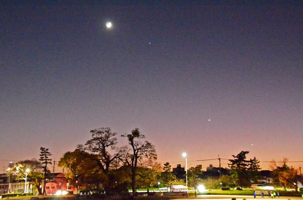 三日月と3惑星
