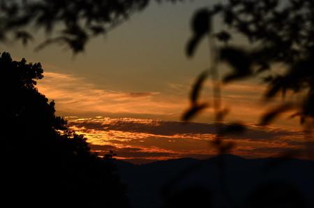 安養寺からの夕陽