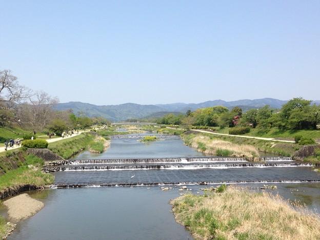 連休初日の賀茂川