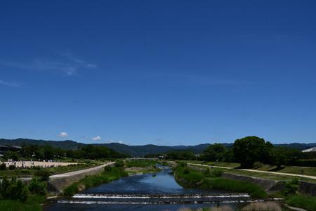 緑と青の賀茂川