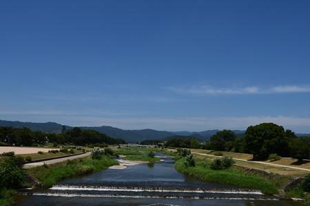 夏晴れの賀茂川