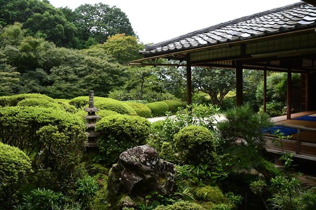 9月初めの詩仙堂庭園