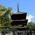 Photos: 秋空の文殊塔
