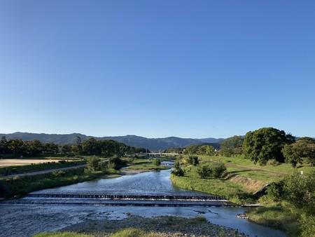 快晴の賀茂川