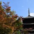 文殊塔と紅葉