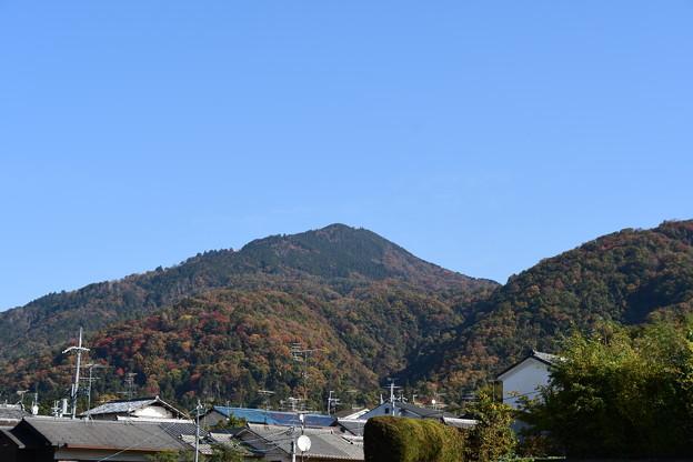 圓光寺付近から見る比叡山