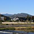 Photos: 賀茂川から見る愛宕山、鷹ヶ峰三山
