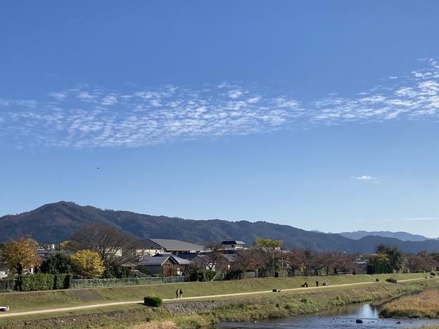 賀茂川上空の雲