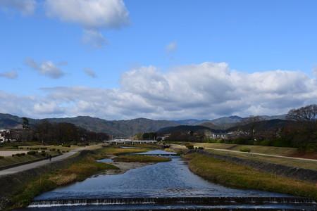 初冬の賀茂川