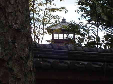 鴨川公園から見る旧三井家下鴨別邸