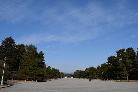 冬空の京都御所