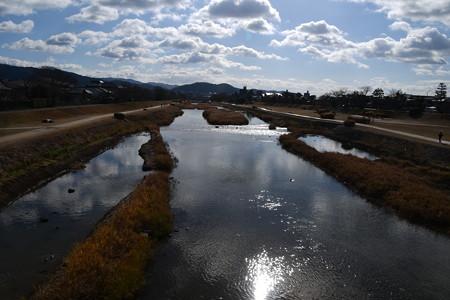 元日の賀茂川