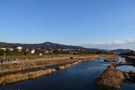 晴天の賀茂川