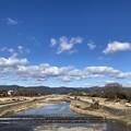 冬晴れの賀茂川