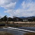 晴れ間の広がる賀茂川