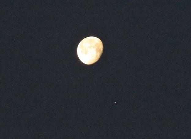 朝の月&木星_5630