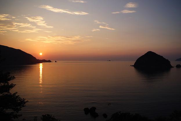 若狭湾の夕日
