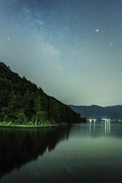 水月湖と天の川