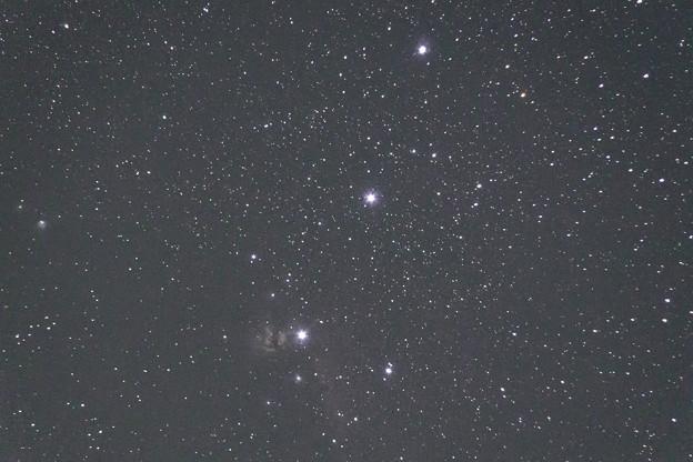 オリオンの三ツ星付近