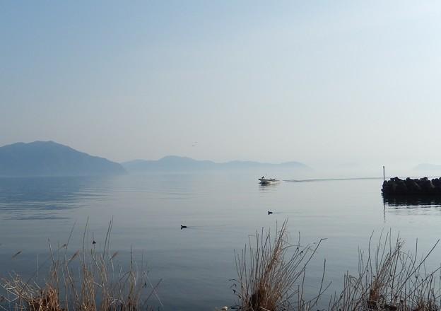 琵琶湖 春霞