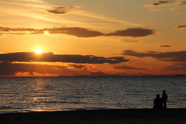 Photos: 海辺の夕日