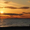 海辺の夕日