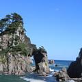 写真: 小袖海岸 つりがね洞