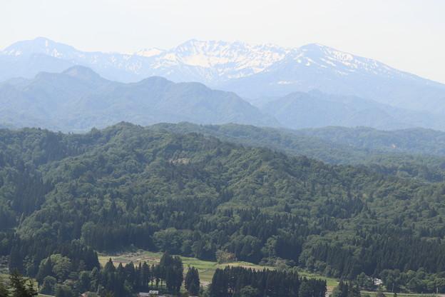 守門岳方面の眺め