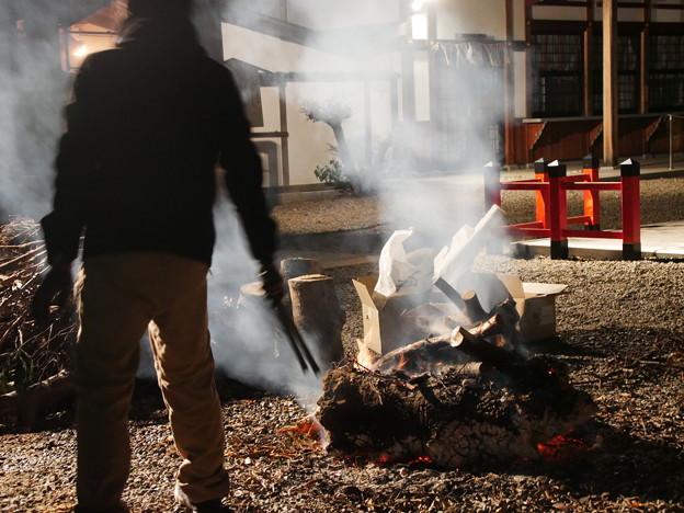 焚き火 霊山護国神社