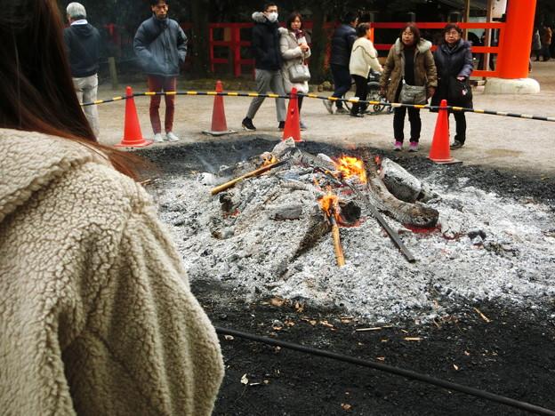 焚き火 下鴨神社