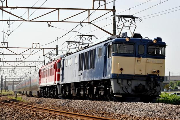 EF64ー1051 EF81-95 カシオペア 上越線 八木原ー渋川