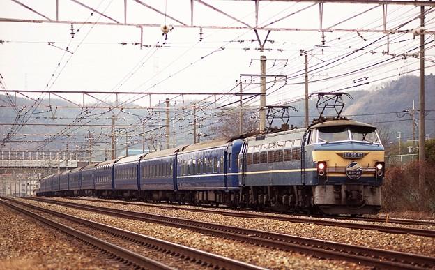 EF66-47 寝台特急「あかつき」 EF65より代走 東海道本線 百山踏切
